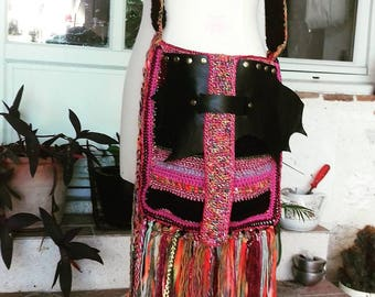 rock bag Bohemian feather of love