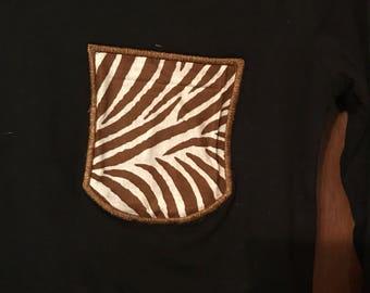 Brown Pocket T
