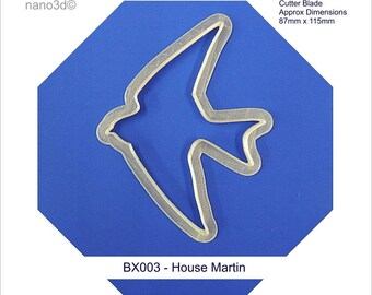 Cookie/pastry biscuit cutter, Birds of the World, House Martin for use with icing fondant or play dough