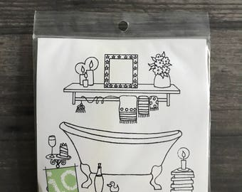 Impression Obsession Bathtub Rubber Cling Stamp