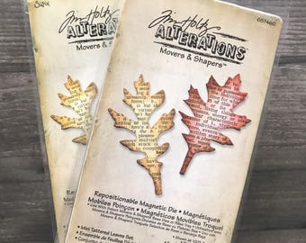 Tim Holtz Movers and Shapers Leaf Diecut