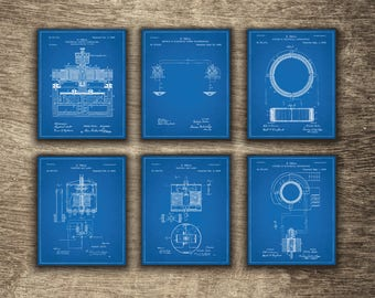 Tesla blueprint etsy tesla wall art tesla set of 6 blueprints tesla patent print tesla blueprint malvernweather Gallery