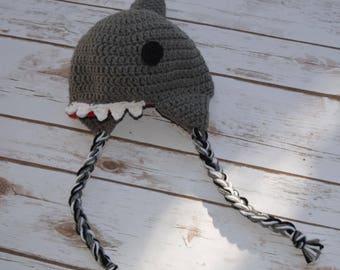 Crochet Shark Hat