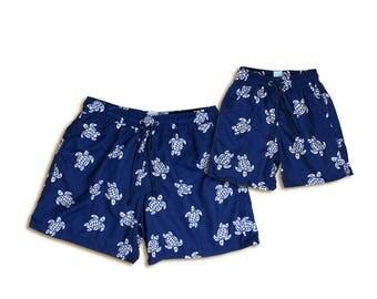 "Swim shorts ""Turtle"", Partnerlook father son set price!"