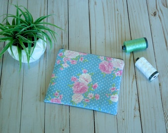Vintage floral Small cosmetic bag/ small zip pouch