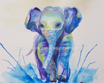 Elephant Print, 8 by 10 inches
