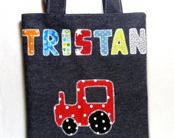 Library bag child tractor pattern