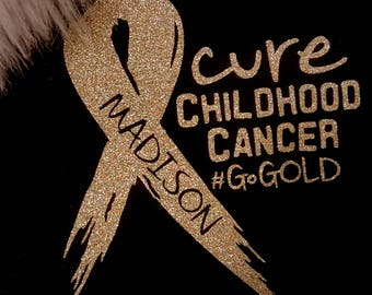 """7x7"""" Personalized Car Decal~Cure Childhood Cancer #GoGold"""