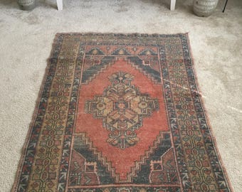 "5'7""x 3'9"" Vintage Hand Knotted Oriental Authentic Turkish Rug FREE SHIPPING!!!"