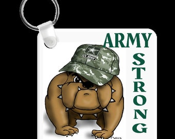 Dog Lovers Army Fun Keychain Keyholder