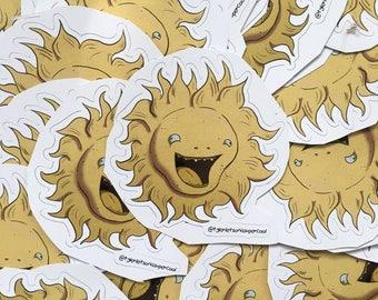 Sun Vinyl Sticker (2.5 in x 2.5 in)