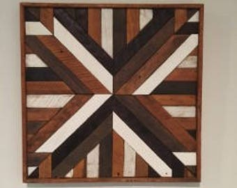 Reclaimed Wood abtract wall art