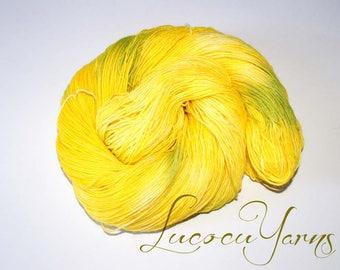 "Hand-dyed sock yarn 4 x 100 g ""Caipirinha"""