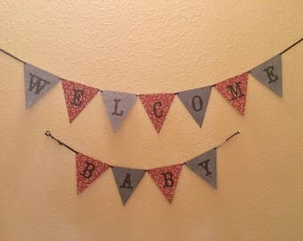 Welcome Baby Banner (cowboy/country theme)