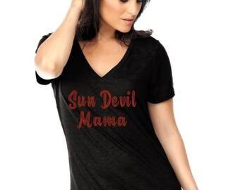 Sun Devil Mama Rhinestone Iron on Transfer