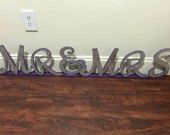 Mr & Mrs Sign letters
