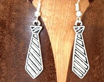 Earrings dressing silver tie clips garment tie silver