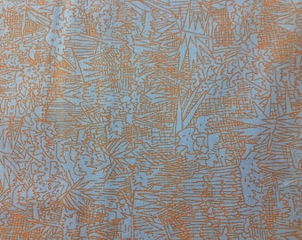 SALE! Carolyn Friedlander BLUE JAY Cotton Fabric, Sold by the 1/2 yard, for Robert Kaufman afr-16608-82,   quilting