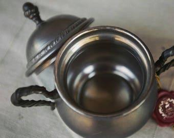 Pure pewter - Rama - Peltro sugar bowl