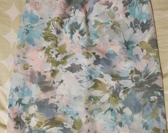 Watercolor chiffon skirt