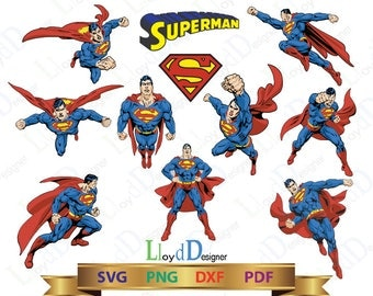 Superman SVG Superman logo svg superman gift superman shirt superman ornament superman clipart png dxf pdf eps cut files Print cameo cricut