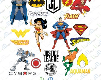 Justice league svg justice league clipart justice league logo superhero svg justice league invitation svg png pdf dxf file cuttable file