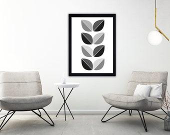 Geometric print, Minimalist art, scandi print, mid century print, black and white print, minimalist print, scandinavian art,