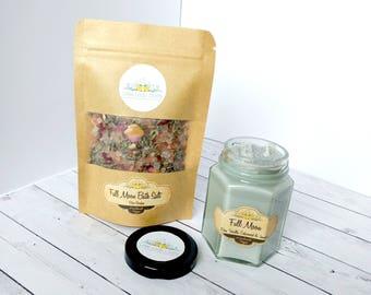 Full Moon Candle & Bath Salt Gift Set