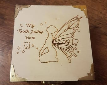 Wooden 'My Tooth Fairy' Box