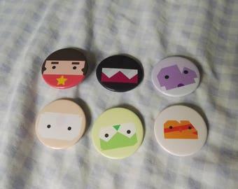 6 Simplistic style Steven Universe Badges