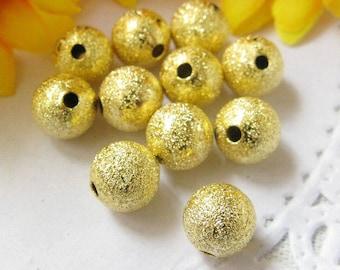 20 stradust gold metal 6mm beads