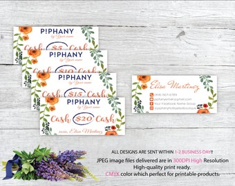 Piphany Cash Card, Piphany Money Cash, Custom Piphany Cash Discount, Piphany markting, Printable Card - Digital file TP04