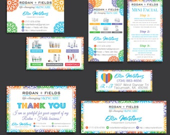 PERSONALIZED Rodan and Fields Cards, Rodan and Fields Marketing Kit, Rodan + Fields Marketing Bundle, R and F Marketing Package, RF08