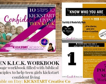Teen KICK Workbook - Biblical Teaching - Learning - Self-Esteem - Confidence