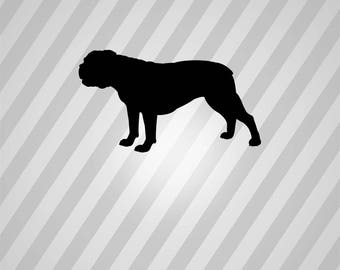 english bulldog Silhouette - Svg Dxf Eps Silhouette Rld RDWorks Pdf Png AI Files Digital Cut Vector File Svg File Cricut Laser Cut