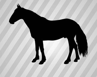 mustang Silhouette - Svg Dxf Eps Silhouette Rld RDWorks Pdf Png AI Files Digital Cut Vector File Svg File Cricut Laser Cut