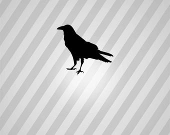crow Silhouette - Svg Dxf Eps Silhouette Rld RDWorks Pdf Png AI Files Digital Cut Vector File Svg File Cricut Laser Cut