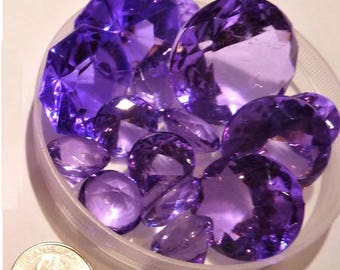80 Lavender Jumbo and Assorted Sizes Sparkling Gems for Event Centerpieces