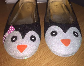 Penguin flats-shoes-prom-wedding