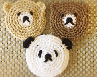 Dish Scrubber / Cup Coaster Bears