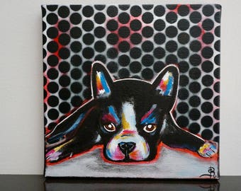 Dog painting colorful painting modern pop art