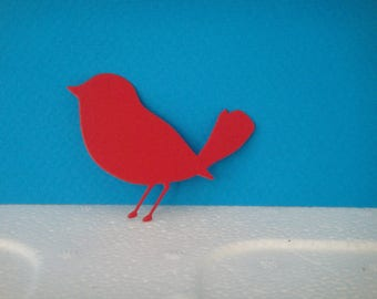 Cut for scrapbooking and card red bird