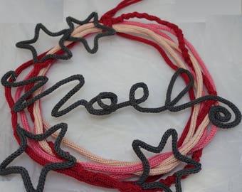 Wreath ornament knitting