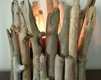 Nice square Driftwood candle holder
