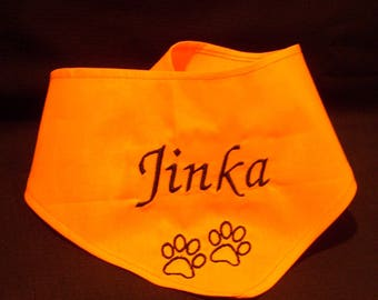 Bandana in custom orange bright L, XL, XXL