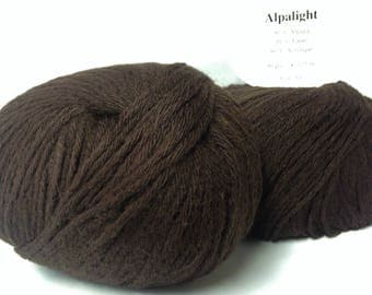 set of 5 balls of yarn: Alpaca/chocolate / made in France