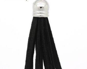 6 cm Black Suede tassel