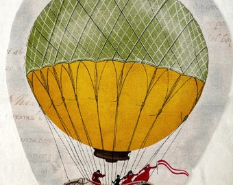 Image sewing balloon on 39x30cm beige background