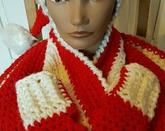 fingerless gloves handmade crocheted Christmas special