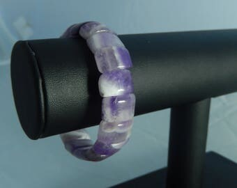 Amethyst beads elastic bracelet